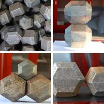 Shouding multiple rhombic grinding ball